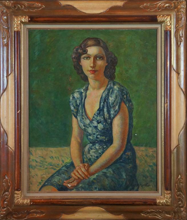 Marchou Georges Portrait Painting - Portrait Of Woman