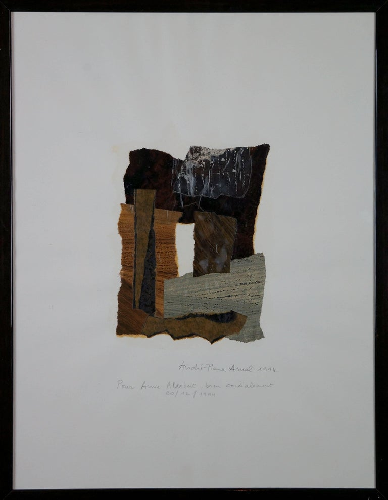 André Pierre Arnal Abstract Drawing - Abstract Collage Composition