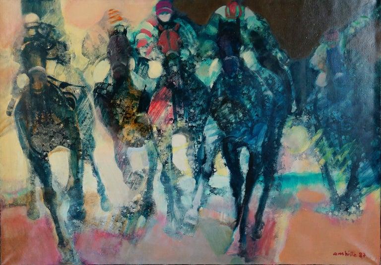 Paul Ambille Figurative Painting - La Course