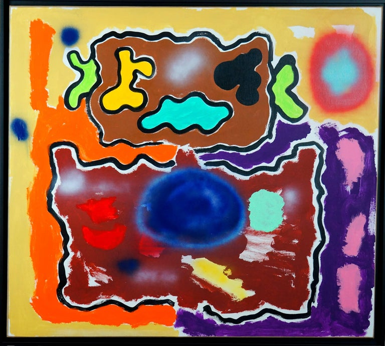 Patrice Brangé Abstract Painting - Abstract Composition PG2