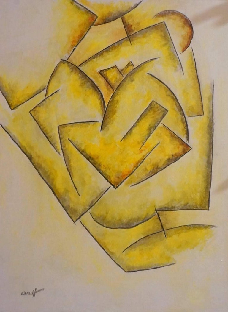 Georges Gaston Arnulf Abstract Painting - Abstract Composition GA5