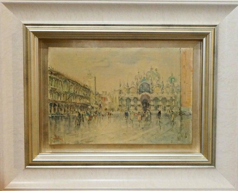 Unknown Landscape Painting - La Place Saint Marc