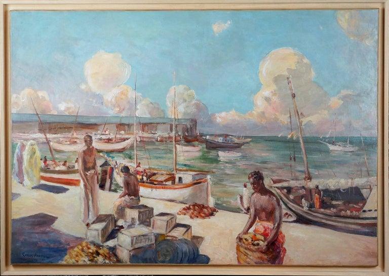 Carlos Abascal Landscape Painting - Port D'Afrique