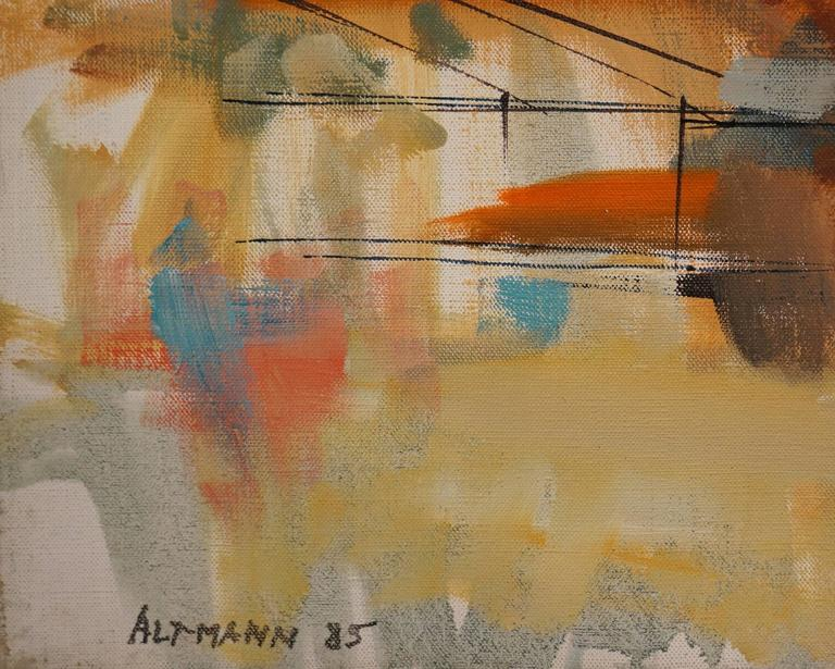 L'Estaque - Painting by Altmann Gérard