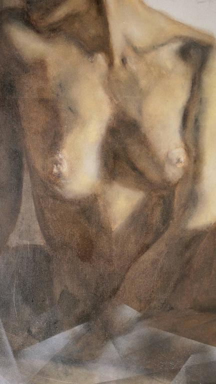 Femme d'un Soir - Brown Figurative Painting by Unknown