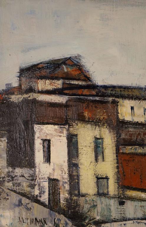 Small Town - Modern Painting by Altmann Gérard