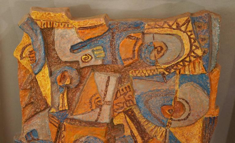 Les argonautes abstract paper mache composition for sale for Papier mache art for sale
