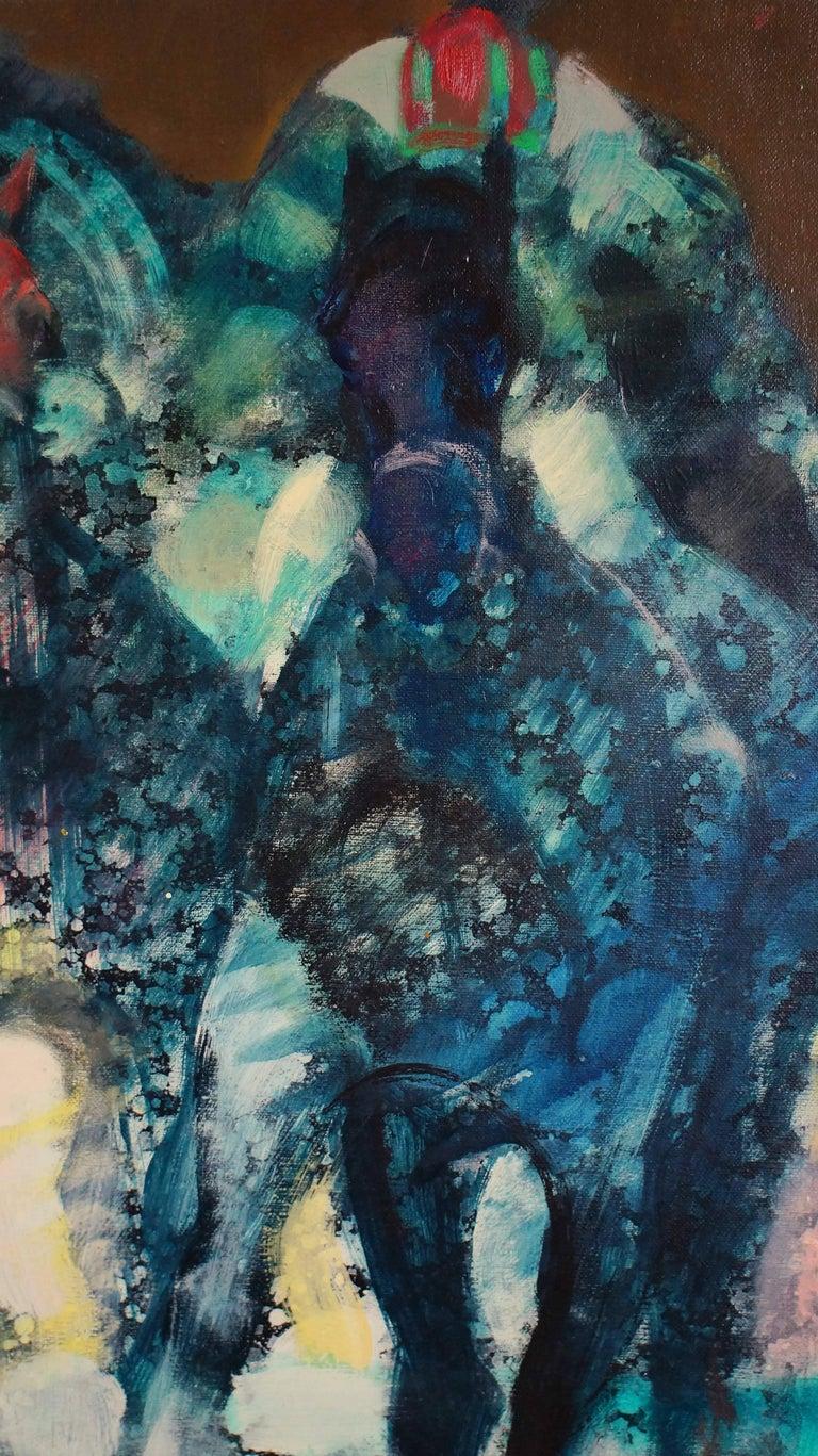 Oil on cavas, signed lower right.