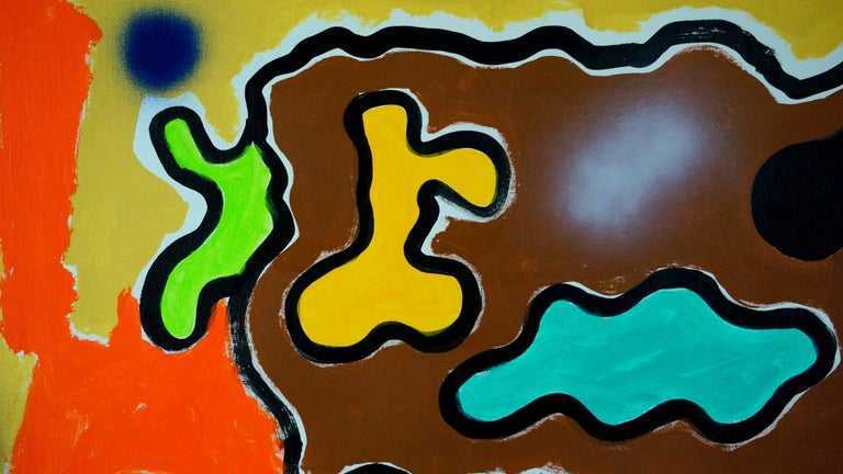Abstract Composition PG2 - Brown Abstract Painting by Patrice Brangé