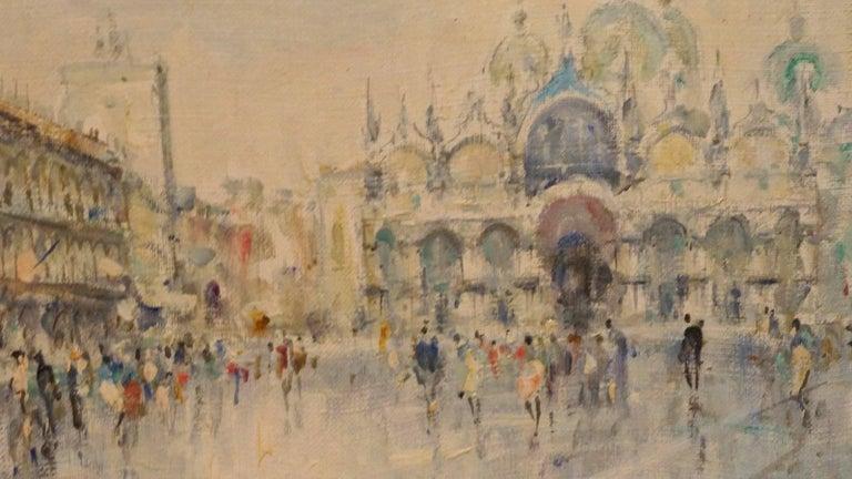 La Place Saint Marc - Post-Impressionist Painting by Unknown