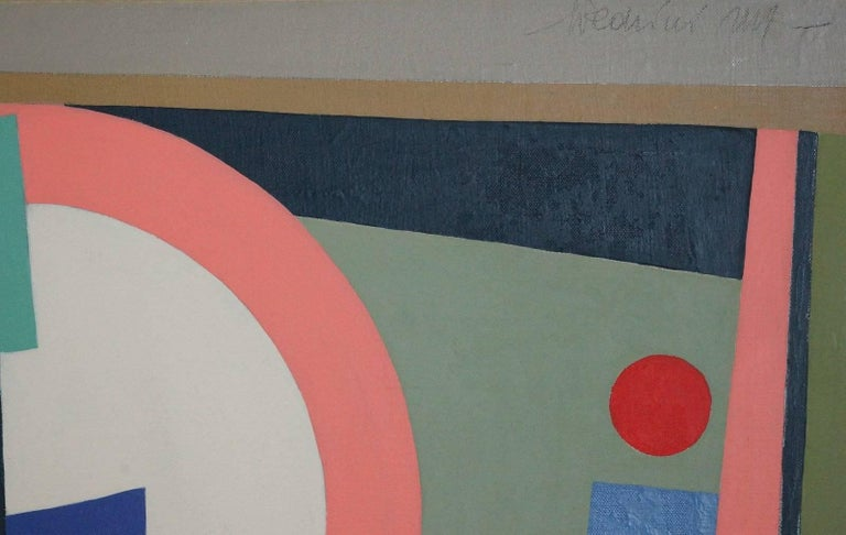 Abstract Geometric Composition SP15 - Painting by Pedrini Silvia