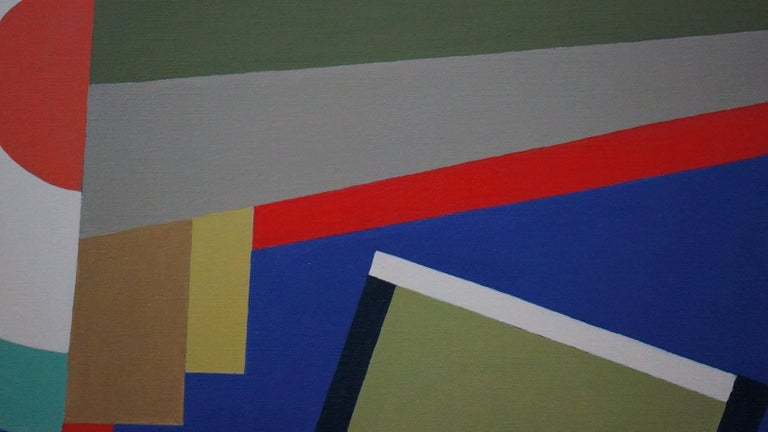 Abstract Geometric Composition SP15 - Gray Abstract Painting by Pedrini Silvia