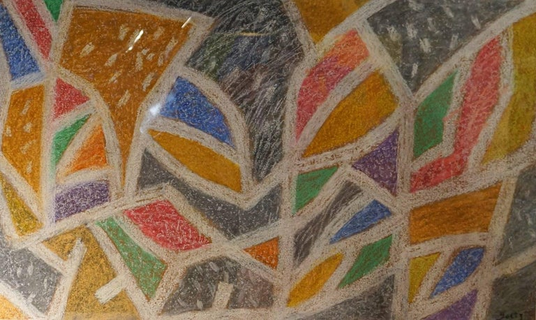 Abstract Composition HG - Brown Abstract Drawing by Henri Goetz
