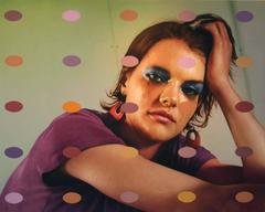"""Photorealist painting, """"Pretty Pictures (Emily),"""" Jerry Ott, acrylic on panel"""