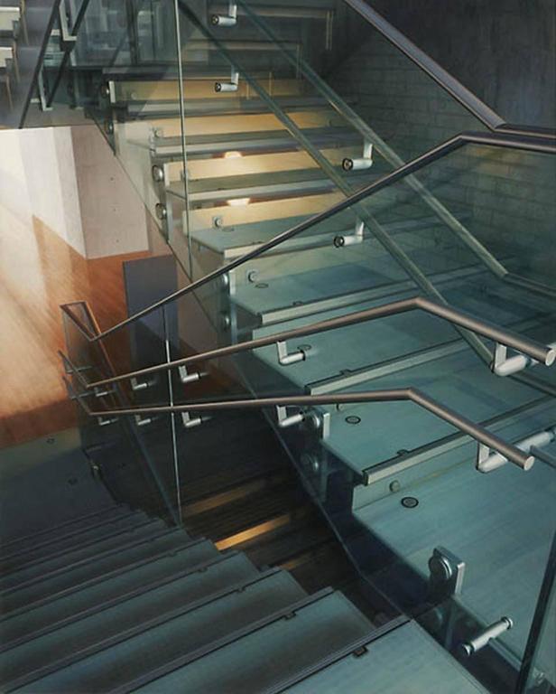 Hisaya Taira Interior Painting - Stairway #10 - Library