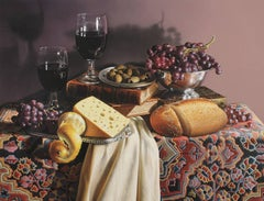 Still Life With Grapes and Olives