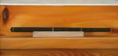 "Black and brown realist still-life, ""The Black Flute"", Joseph Q. Daily"