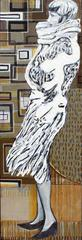 Mod Portrait of Windswept Woman // Browns, Creams, Beiges
