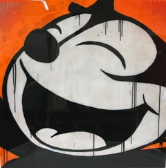 Pop Art Portrait of Felix the Cat