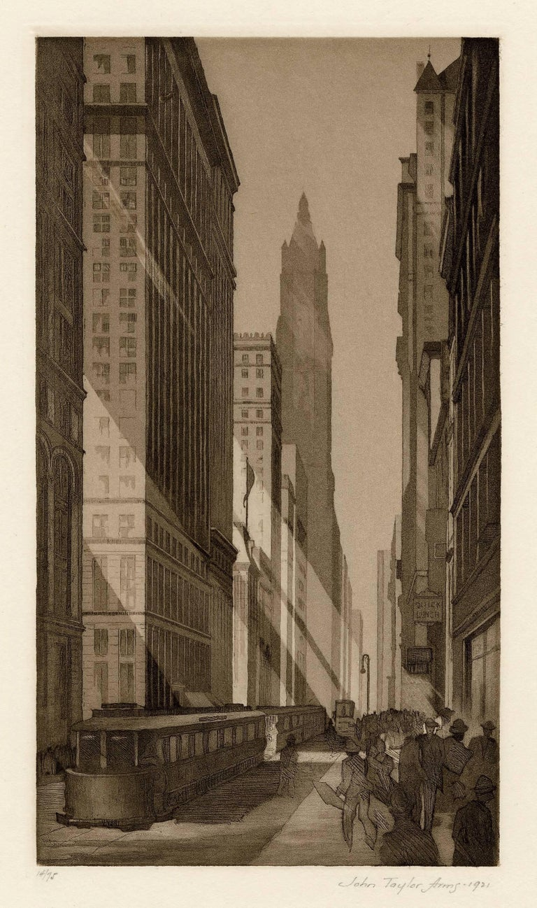 John Taylor Arms Landscape Print - Downtown, New York