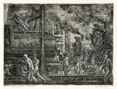Locomotives Watering (Erie R.R. Locos Watering)