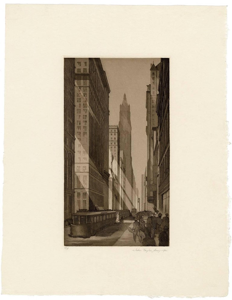 Downtown, New York - Print by John Taylor Arms