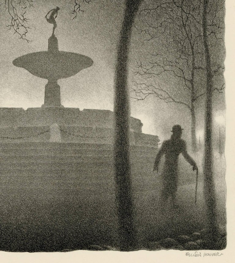 Pulitzer Fountain, Evening - Print by Ellison Hoover
