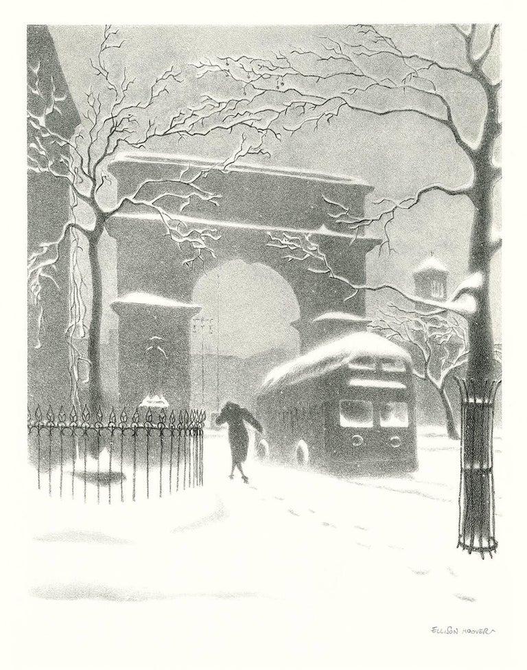 Ellison Hoover Print - Washington Arch in Snow