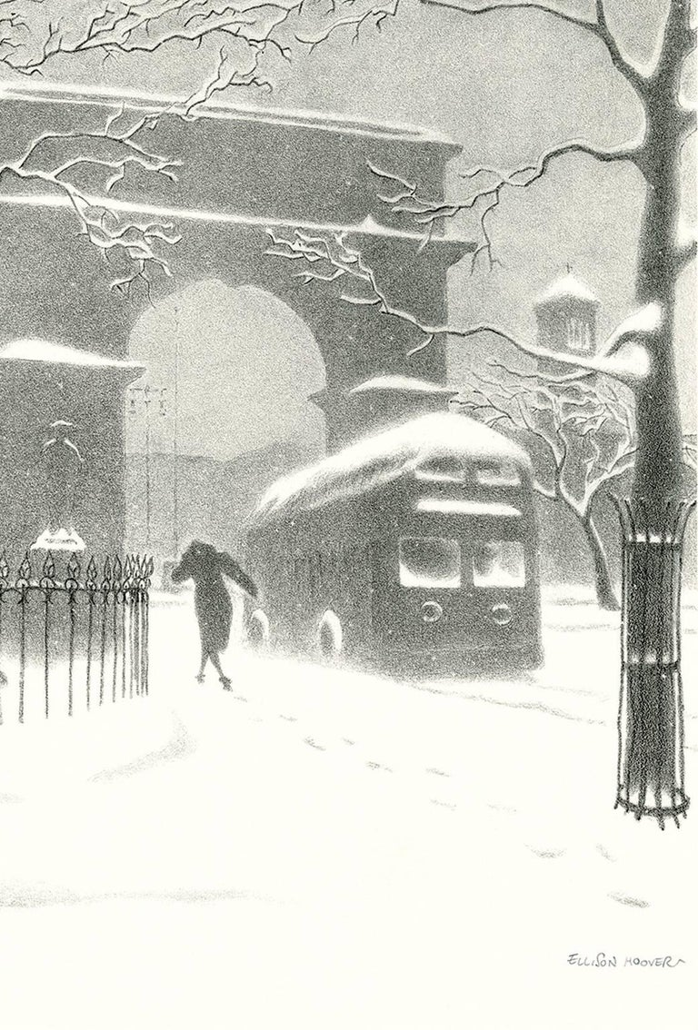Washington Arch in Snow - Print by Ellison Hoover