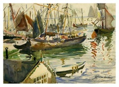 St. Ives Harbor, Cornwall, England, 1905