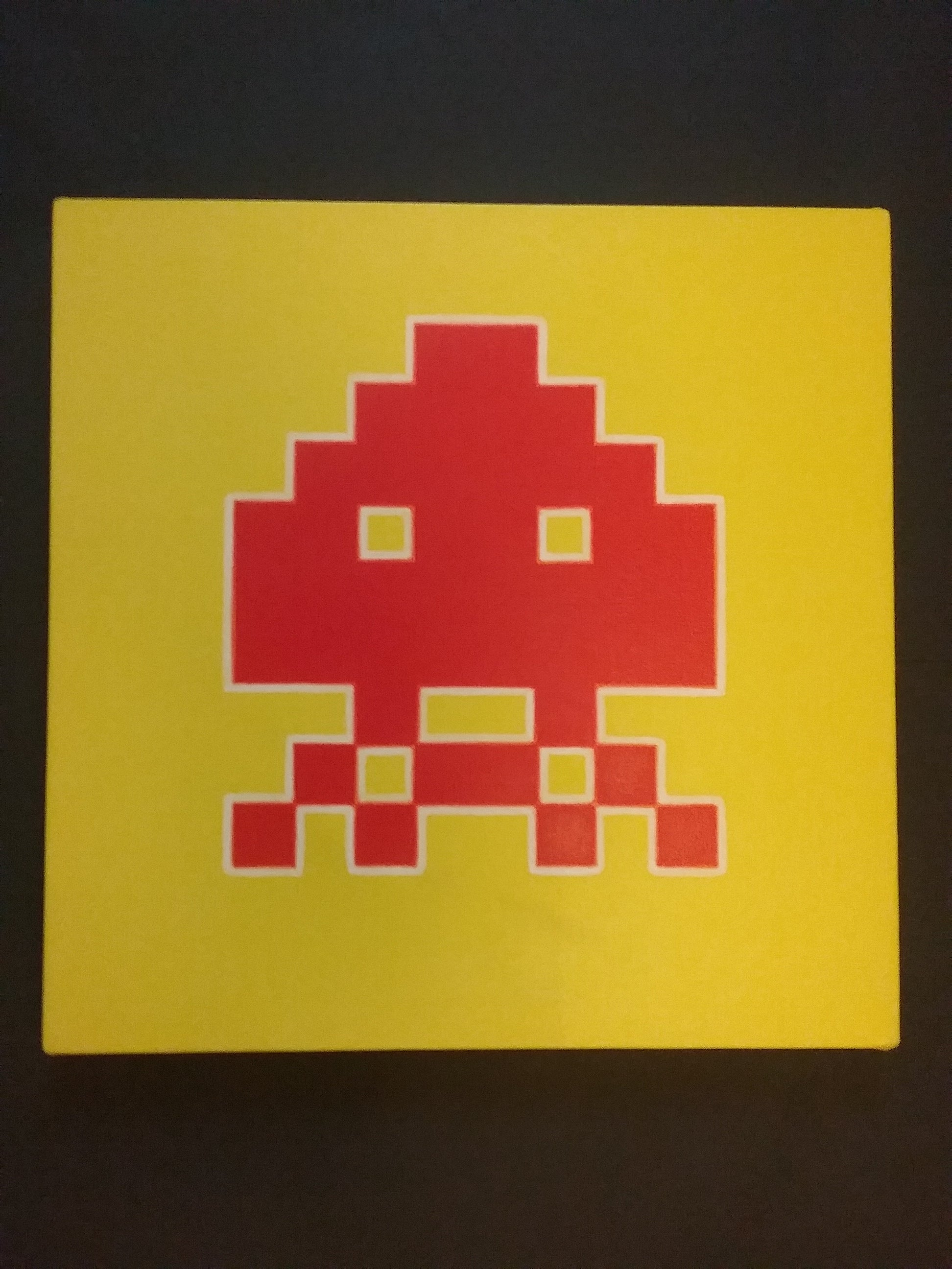 David McKeran - Space Invader, Painting For Sale at 1stdibs