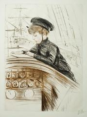 Le Yacht. Jean Helleu Dessinant