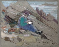 Sketching on the Rocks, Iona