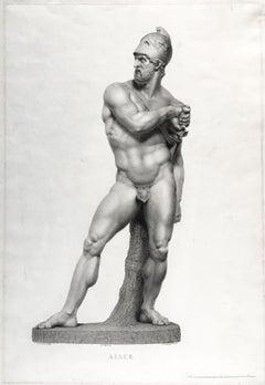 Pair of Engravings of the Statue of Ajax