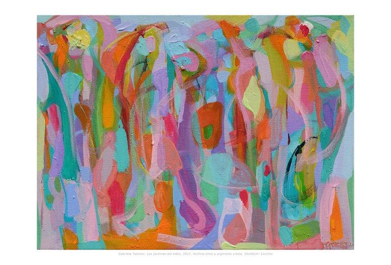"Contemporary Painting ""Eden Garden"" by Gabriela Tolomei"