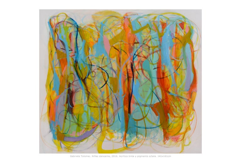 Contemporary painting, 'Children Dancing', by Gabriela Tolomei