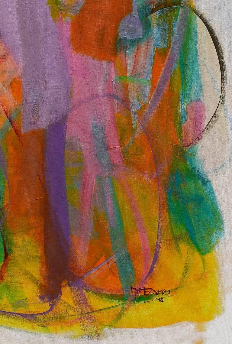 Contemporary painting, 'Luminous Dialogue', by Gabriela Tolomei For Sale 7