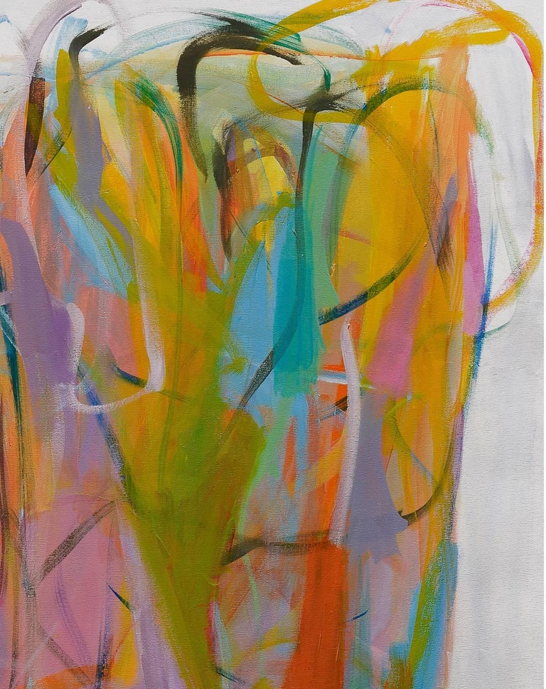 Contemporary painting, 'Luminous Dialogue', by Gabriela Tolomei For Sale 2