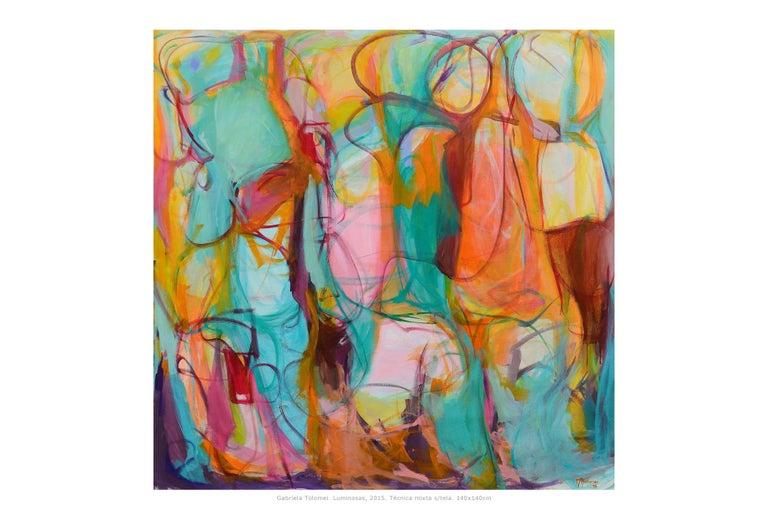 Contemporary painting, 'Luminous', by Gabriela Tolomei
