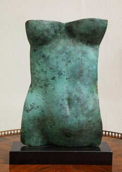 "Contemporary  Sculpture "" Torso Verde"" By Gerald Siciliano"