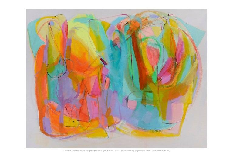 Contemporary paintings, 'Los Jardines de la Gratitud III' by Gabriela Tolomei