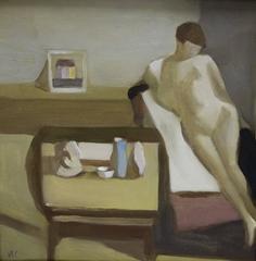 """Reclining nude""  Oil cm. 50 x 50 2007"