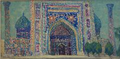 """ Samarcanda"" oil cm. 78 x 40 1974"