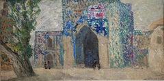 """""""Bukhara """" Uzbekistan,Orient, Oil  cm. 78 x 40 1974"""