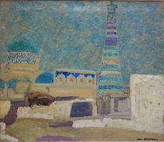 """ Bukhara evening"" Oil  cm. 69 x 59 1975"