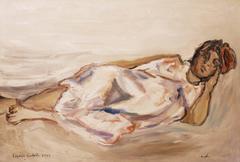 """Angela""  Oil  cm. 100 x 70  1979"
