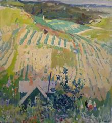 """""""Village near St. Petersburg"""" cm. 66 x 71 Oil 1959"""