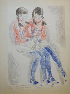Reading  Pastel cm. 36 x 48  1970