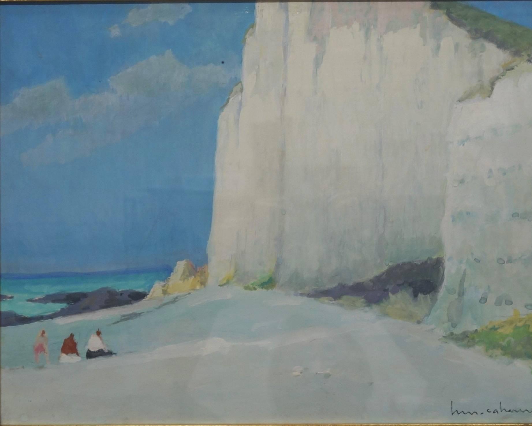 Les falaises (Entretat)   Gouache    cm. 41 x 32  1930