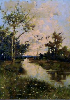 Countryside landscape    Oil  32 x 45   1870 ca